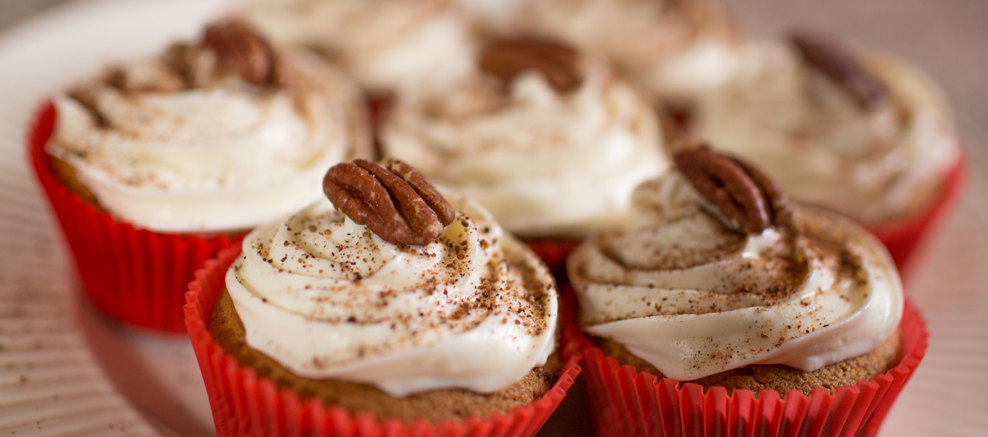 Pumpkin Puree Cupcakes with Pecans Image