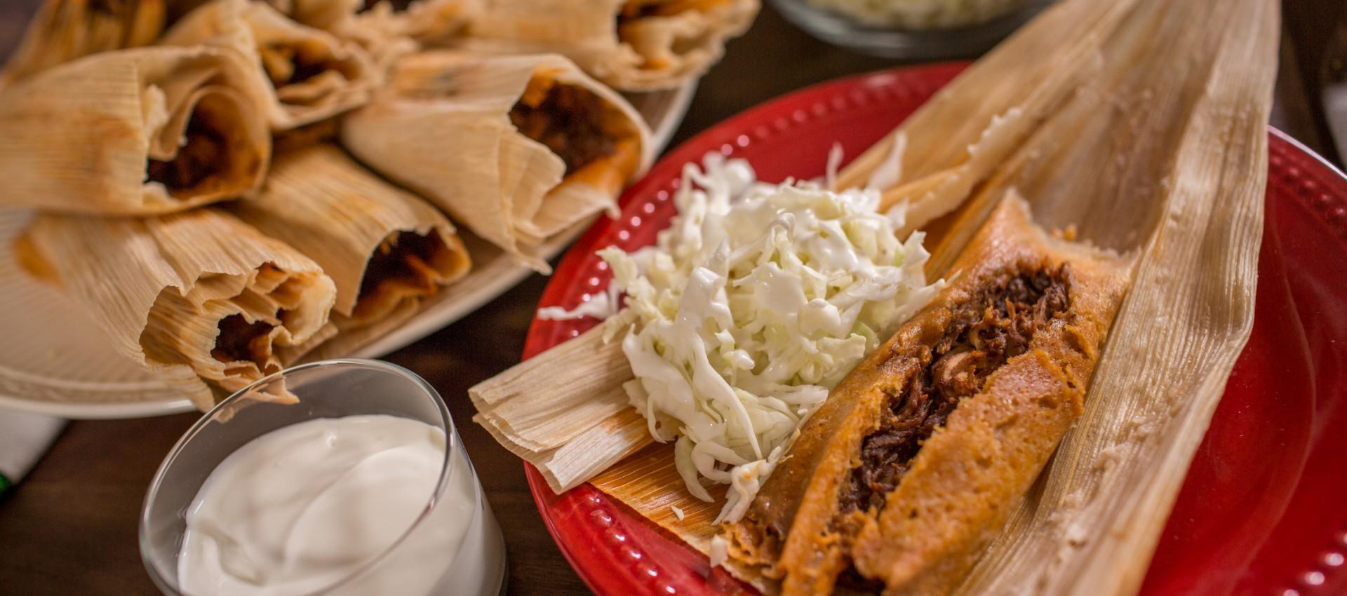 Turkey Mole Tamales Image
