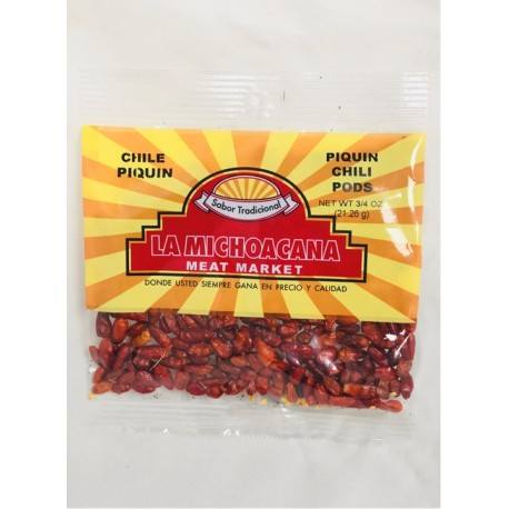 La Michoacana Meat Market- Piquin Chili pods 3/4 OZ