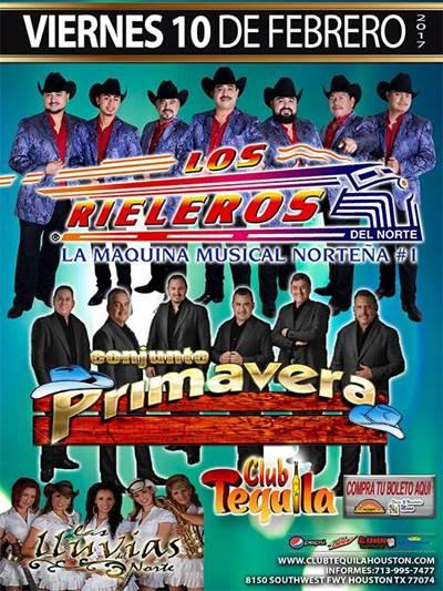 Los Rieleros del Norte at Club Tequila