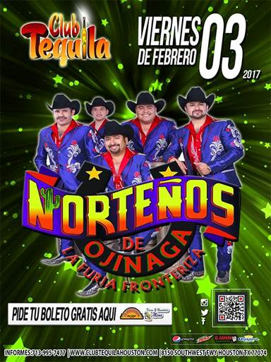 Norteños de Ojinaga at Club Tequila