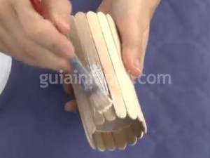 Imagen de Portalápices con palos de helado