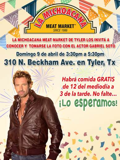 Get a picture with Gabriel Soto, Tyler TX