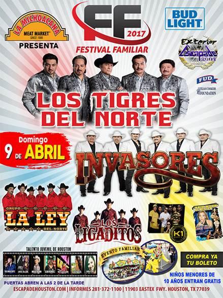 Festival Familiar 2017 – Los Tigres del Norte, Invasores de Nuevo León