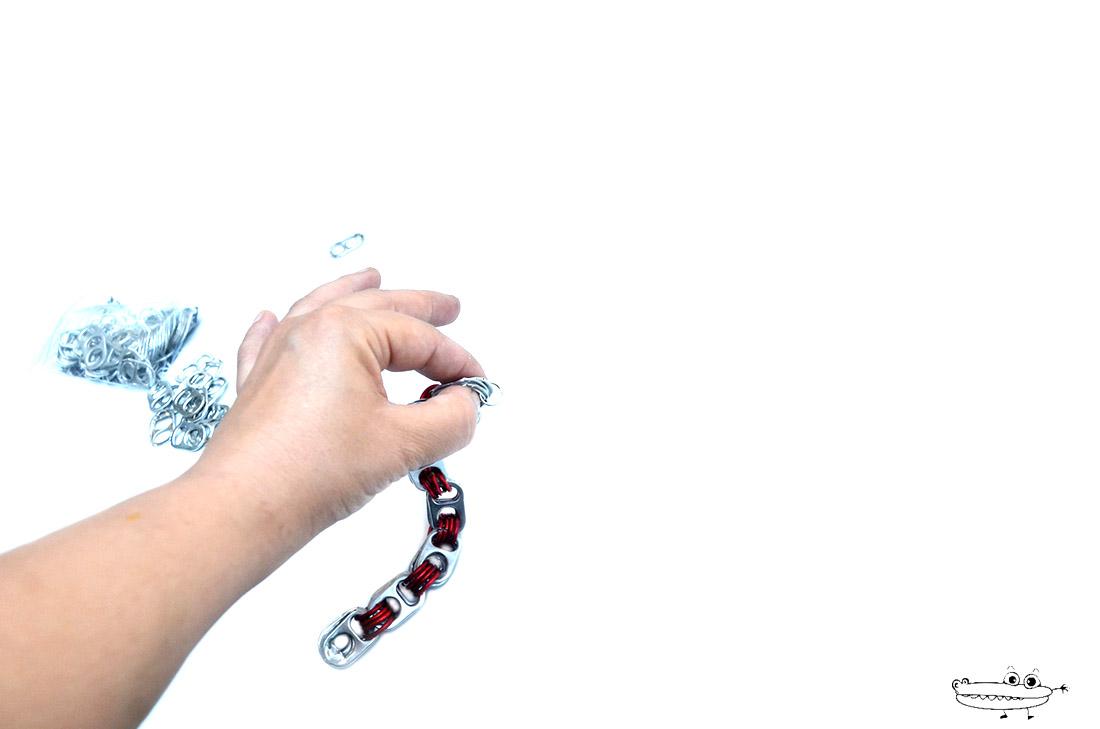Imagen de Pulsera de Anillas Reciclada