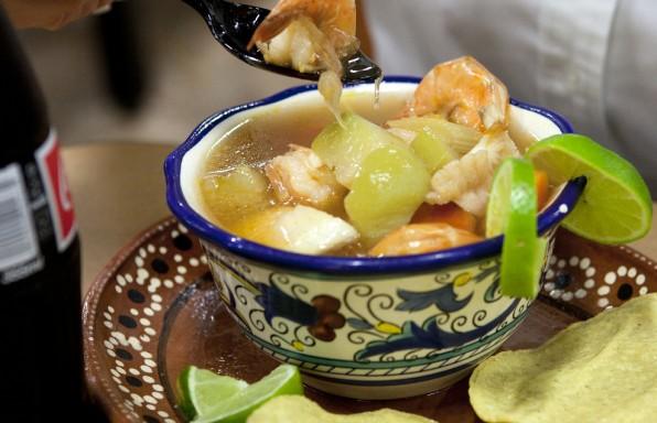 Receta Mexicana de Caldo de Camaron