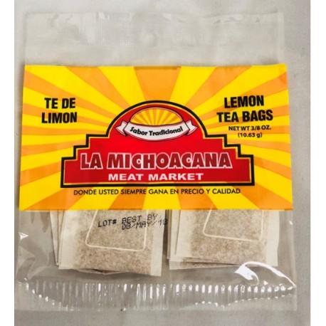 La Michoacana Meat Market – Lemon Tea bags 3/8 OZ